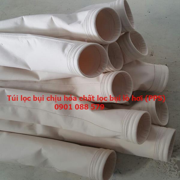 Túi lọc bụi chịu nhiệt, chịu hóa chất lọc bụi lò hơi vải PPS