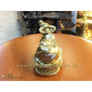 Tượng trâu đồng đúc máy tinh xảo dài 10cm để bàn làm việc và quà tặng