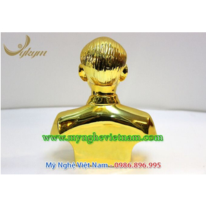 Tượng Bác Hồ mạ vàng 20cm