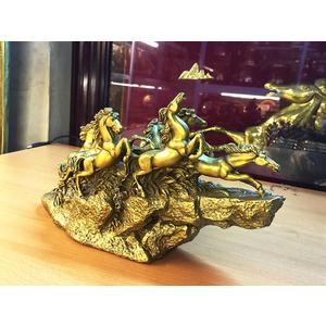 Tượng bát mã đồng vàng 30cm