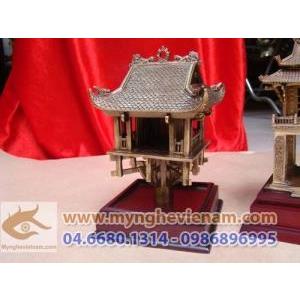 Tượng chùa 1 cột bằng đồng, tượng quà tặng mỹ nghệ, quà tặng sự kiện