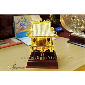 tượng chùa 1 cột mạ vàng 12cm