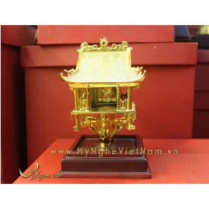 tượng chùa 1 cột mạ vàng làm quà tặng cao cấp 18cm