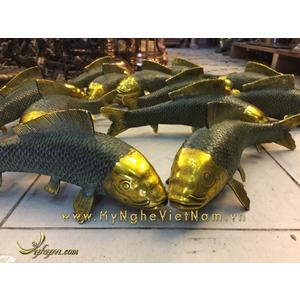 Tượng cá chép đồng giả cổ trang trí phong thủy cho ngôi nhà bạn
