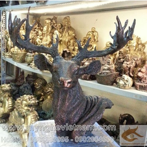 Tượng đầu hươu bằng đồng, tượng trang trí phong thủy