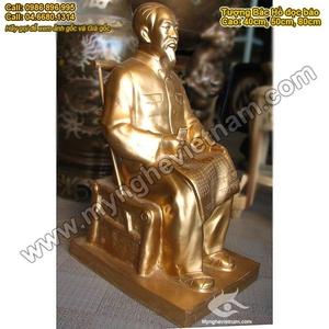 Tượng đồng Bác Hồ ngồi đọc báo, tượng Bác Hồ ngồi ghế mây