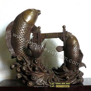 Tượng đồng: Cá chép vượt vũ môn, cá chép hóa rồng