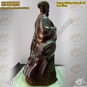 Tượng đồng Khổng Minh Gia Cát Lượng 25cm