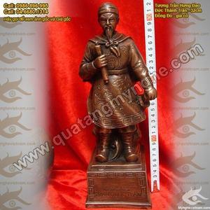 Tượng Đức Thánh Trần Hưng Đạo cao 32cm đồng giả cổ