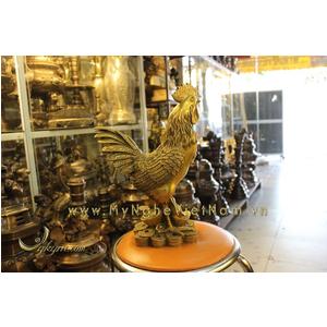 Tượng gà đồng cao 40cm