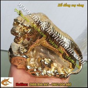 Tượng hổ đồng mạ vàng 24k 9999