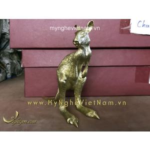 Tượng Kangaroo chuột túi bằng đồng cao 15cm