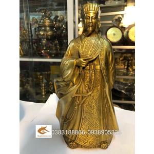 Tượng Khổng Minh bằng đồng cao 25cm