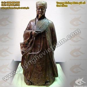 Tượng Khổng Minh cao 50cm, tượng đồng Gia Cát Lượng