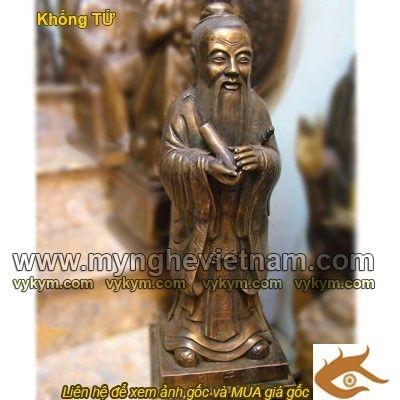 Tượng Khổng Tử, Lão Tử, tượng đúc bằng đồng