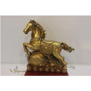 Tượng ngựa dẫm bao tiền 20cm