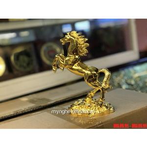 Tượng Ngựa đồng mạ vàng 24k 9999 cao 20cm