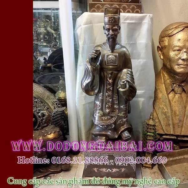 Tượng Nguyễn Trãi bằng đồng cao 70cm