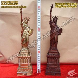 Tượng Nữ thần Tự do 30cm bằng đồng đỏ nguyên chất