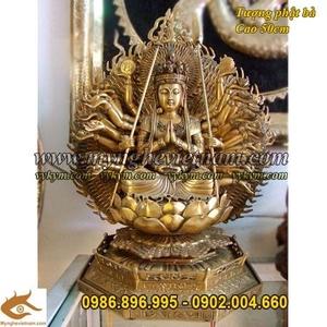 Tượng Phật Bà nghìn mắt nghìn tay, thiên thủ thiên nhãn cao 43cm