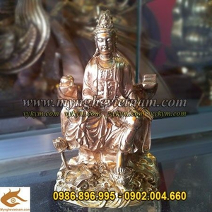 Tượng Phật Bà Quan Âm cao 10cm, tượng thờ bằng đồng, nơi bán tượng Phật quan âm