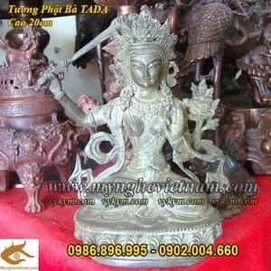 Tượng Phật Bà Tây Tạng Cao 20cm, Phật bà Mật Tông