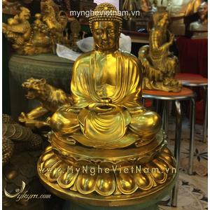 Tượng Phật cao 50cm bằng đồng vàng