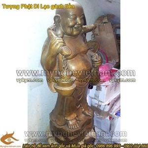Tượng Phật Di Lạc gánh vàng cao 100cm