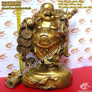 Tượng Phật Di Lạc gánh vàng Cao 25cm