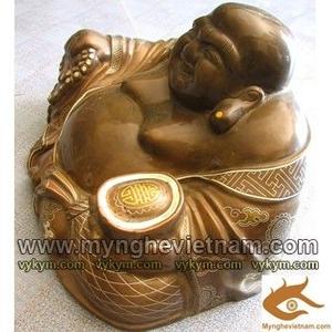 Tượng Phật Di Lạc khảm bạc tam khí