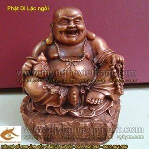 Tượng Phật Di Lạc ngồi cầm hồ lô cao 15cm
