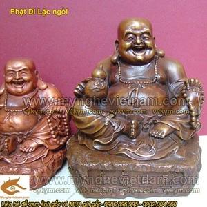 Tượng Phật Di Lạc ngồi cầm hồ lô cao 20cm