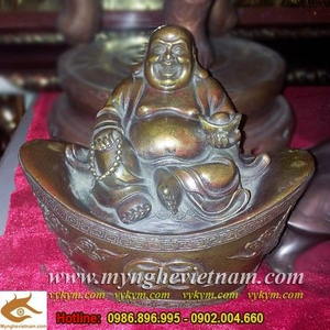 Tượng Phật Di Lặc ngồi kim bảo cao 15cm