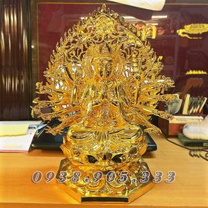 Tượng phật mẫu chuẩn đề 42cm dát vàng
