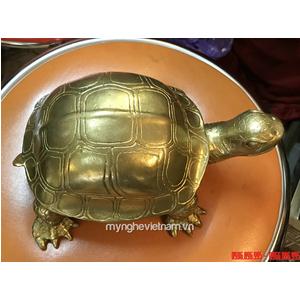 Tượng con rùa bằng đồng dài 20cm - rùa phong thủy chấn trạch