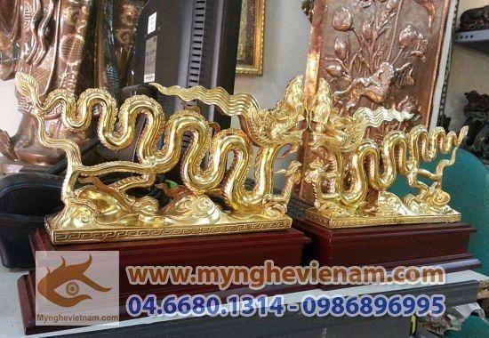 Tượng quà tặng Rồng Thời Lý mạ vàng cao cấp