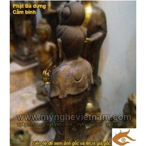 Tượng quan âm bồ tát cao 105cm bằng đồng giả cổ