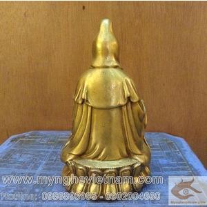 Tượng Quan âm bồ tát, tượng phật bà ngồi thiền cao 20cm