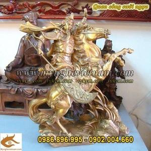 Tượng Quan Công cưỡi ngựa cao 37cm, Tượng Quan Vân Trường