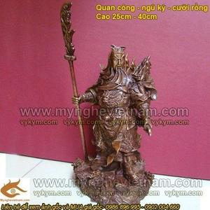 Tượng Quan Công cưỡi rồng cao 25cm, Tượng Quan Vân Trường
