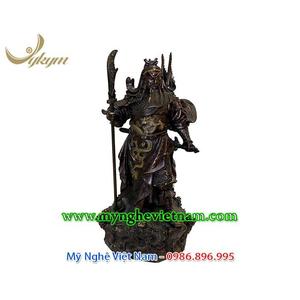 Tượng quan vân trường, tượng quan công bằng đồng áo giáp rồng