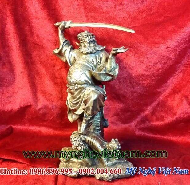 Tượng thần chung quỳ, tượng bắt ma trừ tà phong thủy 25cm