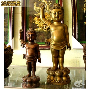 Tượng Thích ca mâu ni Phật Đản sanh chỉ thiên chỉ địa