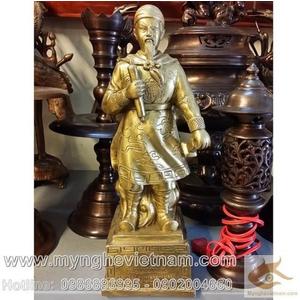 Tượng Trần Hưng Đạo, Đức Thánh Trần bằng đồng vàng 23cm