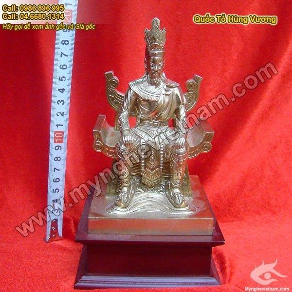 Tượng Vua Hùng bằng đồng 20cm