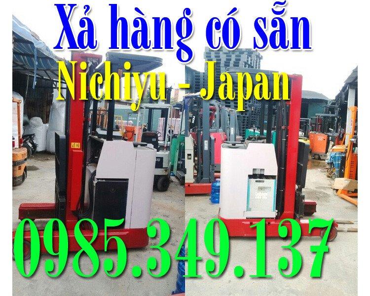 Xe nâng điện, , xe nâng điện đứng lái qua sử dụng Nichiyu- Japan