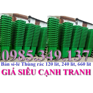 Thùng rác 120 lít, 240 lít rẻ nhất Sài Gòn