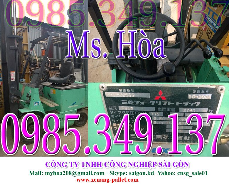 GIẢM 15% Xe nâng điện cũ ngồi lái Mitsubishi 1.5 tấn cao 3 mét