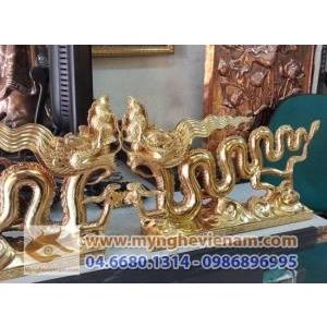 Tượng quà tặng Rồng Thời Lý đồng mạ vàng, quà tặng lưu niệm cao cấp