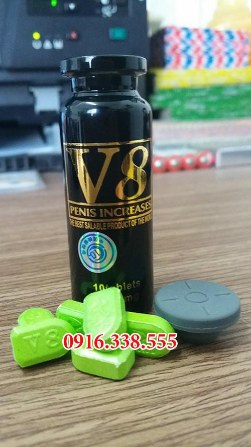 Thuốc Thảo dược cương dương nam V8 USA sex pill 6800 mg